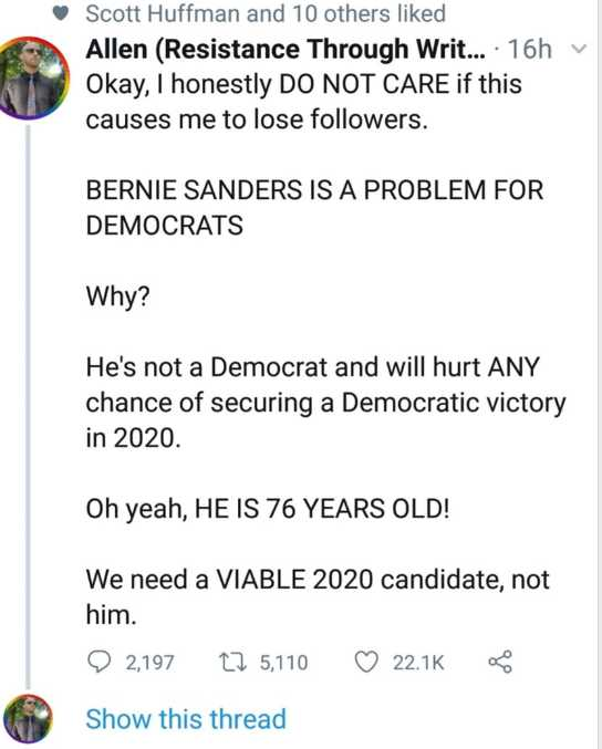 Bernie is the problem